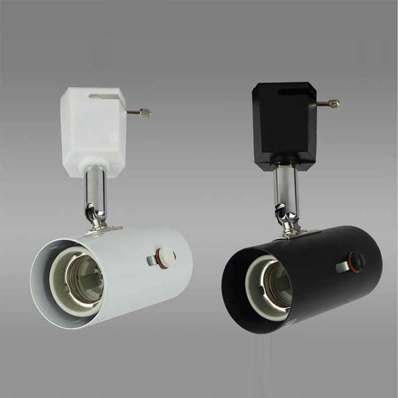 Track Lighting Loft Minimalist Style E27 Lamp Holder Tracking Lights Led Light 220v Adjusted Rail Spotlights