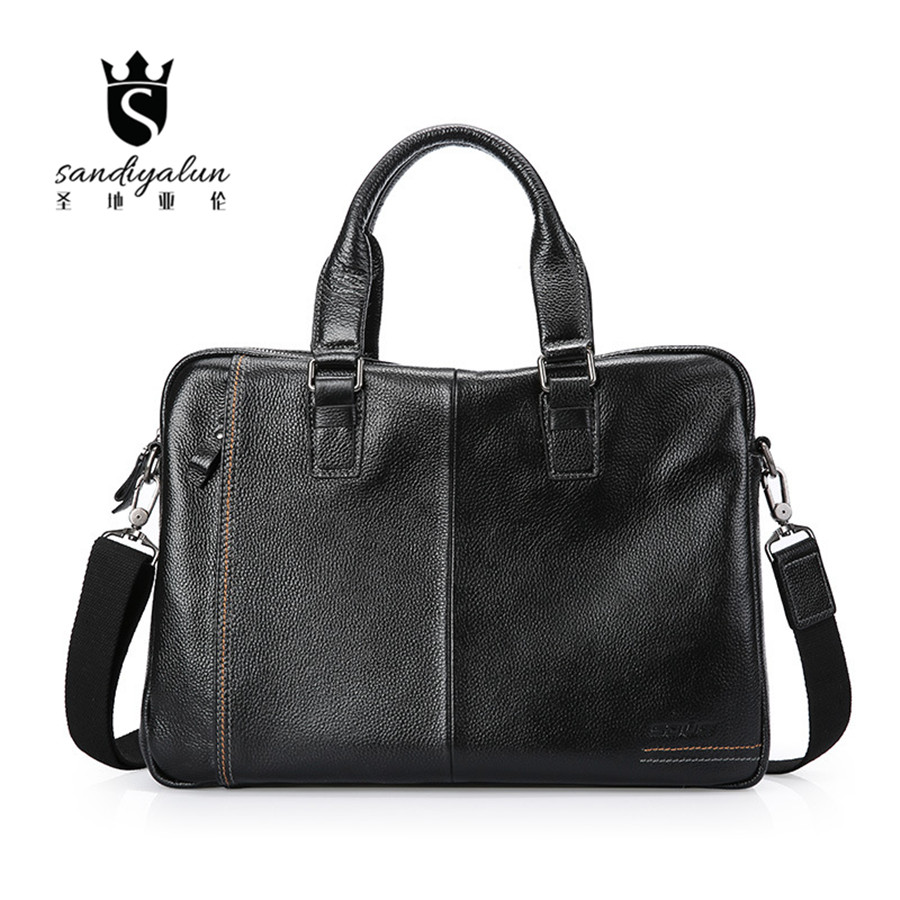 New Brand Genuine Leather Men Bags Business Laptop Tote Briefcases Crossbody Bags Shoulder Handbag Male Messenger Bag genuine leather men briefcase business male fashion laptop handbag messenger bag men leather brand crossbody shoulder tote bags