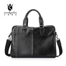 New Brand Genuine Leather Men Bags Business Laptop Tote Briefcases Crossbody Bags Shoulder Handbag Male Messenger Bag