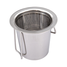1pc Stainless Steel Tea Infuser Filter Mesh Cup Strainer Silver Metal Loose Leaf With Lid Coffee Tools
