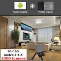 Mini Led Projetor Full HD 1080 P 1000 Lumens 5G Wifi Bluetooth HD Android Projetor Inteligente Portátil USB2.0 Para Android TV PK UC46