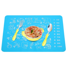 40*30cm Cute Cartoon Animal Silicone Coasters Mat Rectangle Placemats Waterproof Heat Resistant Non Slip Table Mats artificial leather placemats non slip placemats bowls coasters waterproof table mats heat insulated table mats