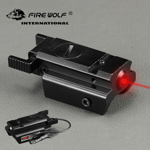 Компактный Охотничий Тактический лазерный прицел с красной точкой, с переключателем давления, 20 мм, рельсовое крепление Picatinny Super Lazer