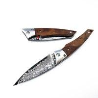 Zasusu складной нож высокоуглеродистая Дамасская сталь нож ручной работы Кованое лезвие походный тактический для выживания спасательный инс...