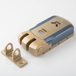 Image 4 - Wafu 010 Keyless כניסה מרחוק דלת מנעול אלחוטי 433mHZ Invisible אינטליגנטי מנעול עם 4 מפתחות מרחוק