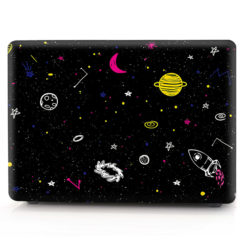 Glitter Case For Apple MacBook Air Pro Retina 11 12 13 15 inch Cartoon Space Transparent Cover for Mac book 13.3 15.4 Case Coque