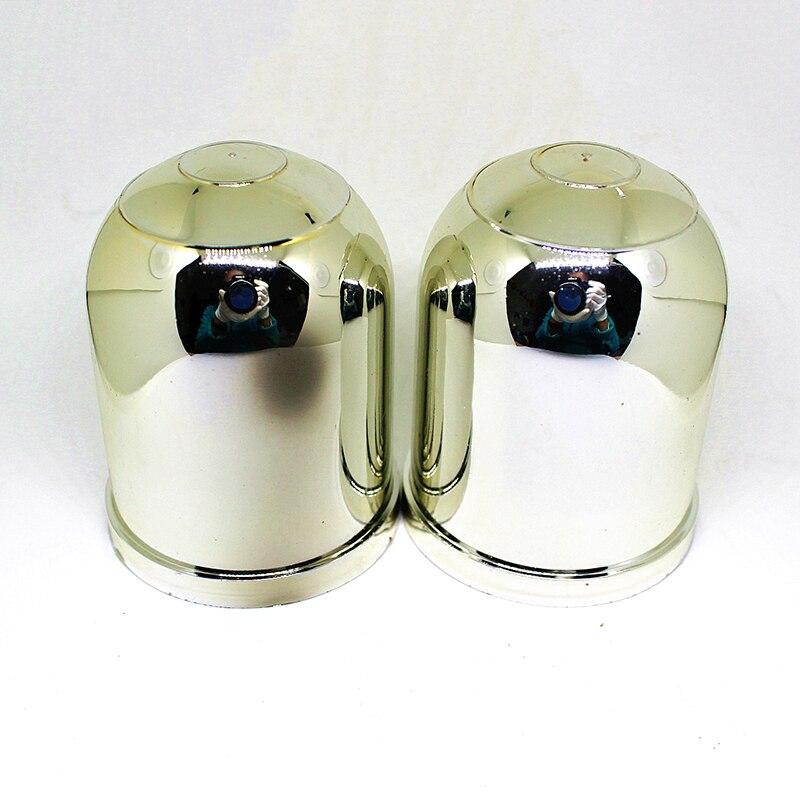 2 1-7/8Trailer Ball Protection Cap 2pcs/lot HitchBall Cover Tow-Ball Cap Trailer Protection Ball Cover Silver Plastic