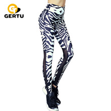 New women sporting fitness Leggings Pants stretch Slim trousers Zebra stripes fashion health sporting Leggings