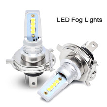 2Pcs H11 9005 9006 HB4 LED Fog Lamp Super Bright Car Fog Lights 12V 6500K White 3535-SMD Running Light Auto H7 H4 Led Bulb(China)