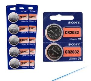 Image 2 - 5 sztuk/partia sony CR2032 3V 100% oryginalna bateria litowa do zegarka pilot kalkulator CR2032 2032 przycisk baterii monety