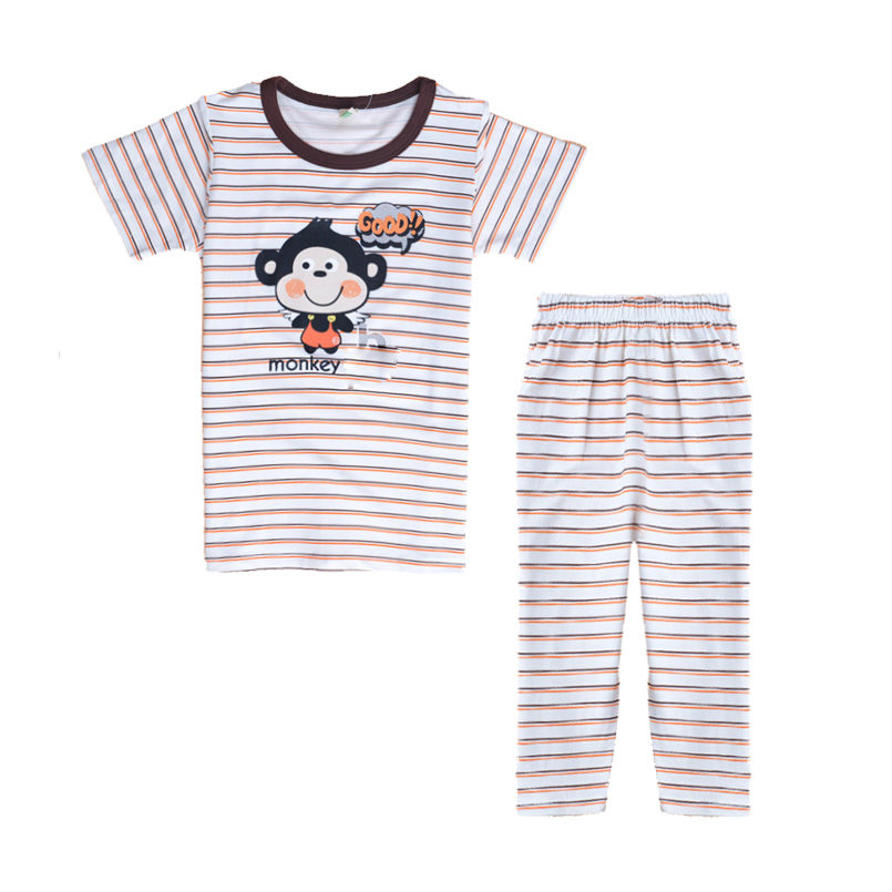 fa4399de1 Cartoon Pajama Sets for Children Summer Sleepwear Casual Kid Short ...