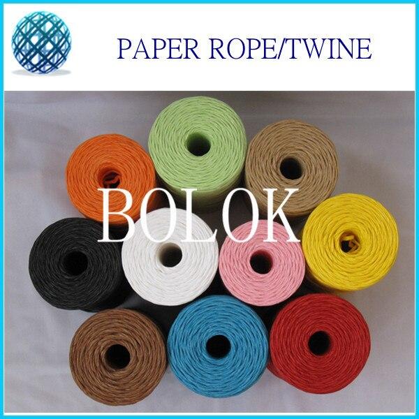 Outgeek 87.49 Yard Paper String Mixed Color Decorative Multi-Purpose Paper Raffia Craft Raffia Craft Ribbon