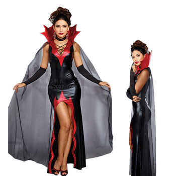 VASHE Halloween Gothic Vampire Role Cosplay Party Suit Adult Queen Vampire Costume Clothing Female Vampire Outfit - DISCOUNT ITEM  15% OFF All Category