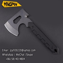 Stone wash steel military fire axe camping logging bone multi-function knife axe car outdoor survival axe.
