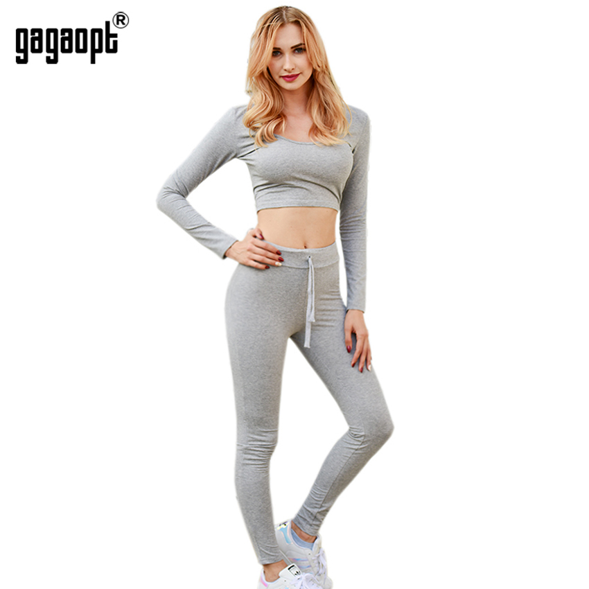 Gagaopt 2017 Women Tracksuit Fitness Set Sexy Leggings And ...