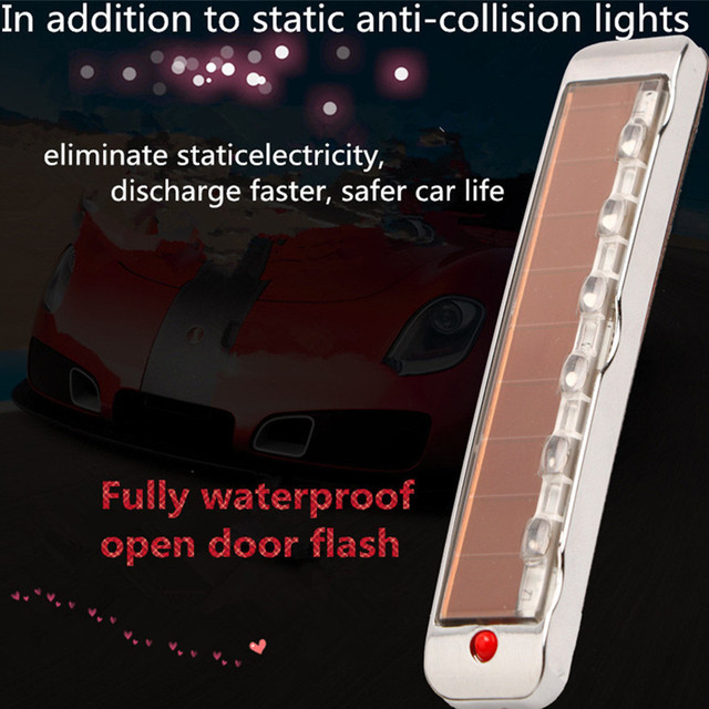 Accessoires de voiture solaire antistatique Sollision lumière LED multi fonction voyant davertissement Luces Led Para Auto voiture accessoires