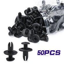 Sujetador automático de nailon para coche, retenedor de escudo de parachoques, remache de plástico, para Ford, Chrysler, automóvil, 50 Uds.