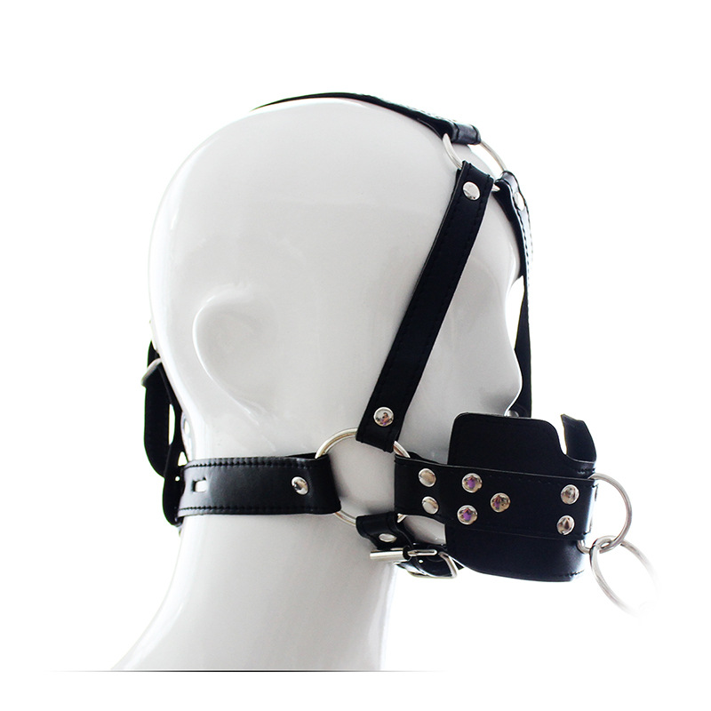 Horse Mouth Gag Fetish PU Leather Harness BDSM Bondage Harness Gag Gay Mouth Sex Mask Adult Sex SM Men Women Party Sexy Masks
