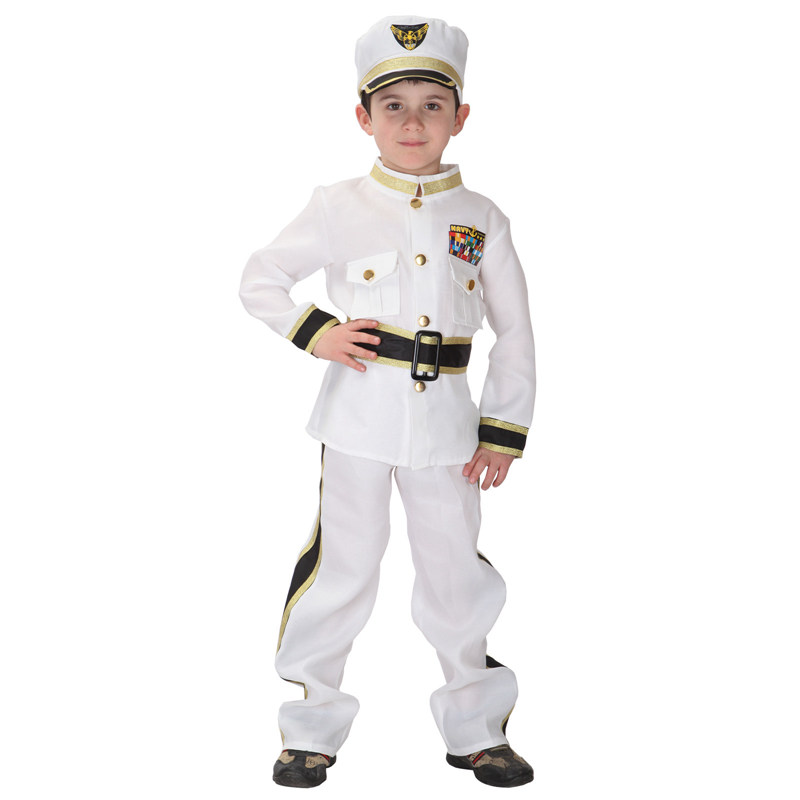 VASHEJING Traffic Police Costume Cosplay Police Costume Children Costumes for Boys Childrens Fancy Dress