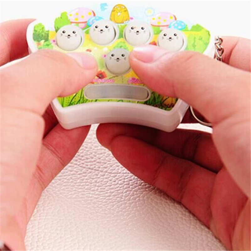 Whack Hamster Fight Whac-A-Mole Key console game machine recreational machines Chain  Baby Kids Handheld Finger Game