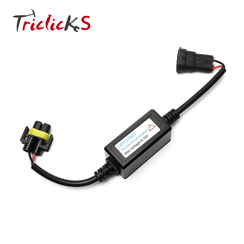 Triclicks H11 H8 H9 Headlight Decoder Error Free Canbus Wire Harness kit No Error Load Resistor LED Decoder Powerful Decoders in Car Light Accessories from Automobiles Motorcycles