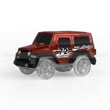 Light rail vehicle electric toy belt light Track car