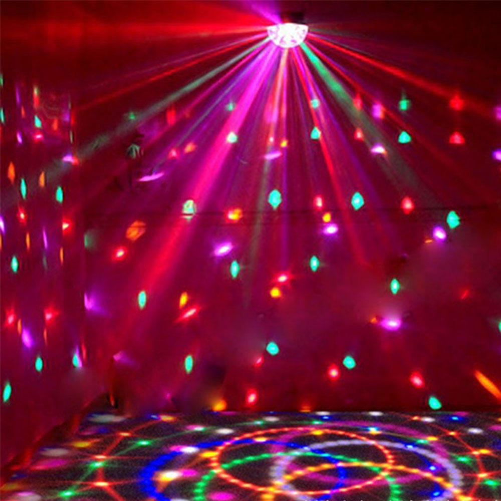 LED Stage Lighting DMX512 RGB Color With Remote Controller Crystal Magic Ball Laser Light Disco DJ