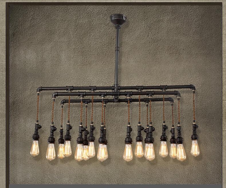 18 Heads European Personality Creative Iron Restaurant Pendant Lamp Coffee Shop Decoration Retro Lamp Balcony Lamp Free Shipping