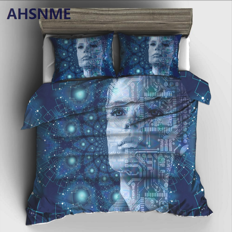 AHSNME Digital Science Fiction Theme Bedding Set High-definition Print Quilt Cover for RU and AU and EU and US Size MarketAHSNME Digital Science Fiction Theme Bedding Set High-definition Print Quilt Cover for RU and AU and EU and US Size Market