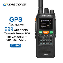 ZASTONE ZT-889G GPS Walkie Talkie 10W 999CH 3000mAh UHF 400-520 / VHF134-174MHz Ham CB Radio HF Transceiver for Explore Hunting