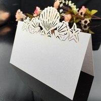 100 stks Wit Laser Gesneden Papier Plaats Bruiloft Escort tafel Wijn Voedsel Gast Seat Naam Mark Plaats Kaarten Gunsten decoraties