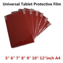 Прозрачная мягкая защитная пленка для экрана планшета, ПК, универсальная защитная пленка для 5,0, 6,0, 7,0, 8,0, 9,0, 10, 12 дюймов, А4, автомобиля, gps, игровой камеры