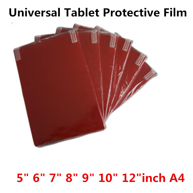 Clear Soft Tablet PC Screen Protector For Universal 5.0 6.0 7.0 8.0 9.0 10 12 inch A4 Car GPS General Toughened Protective Film ...