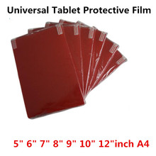 Clear Soft Tablet PC Screen Protector For Universal 5.0 6.0 7.0 8.0 9.0 10 12 inch A4 Car GPS Game General Clean Protective Film
