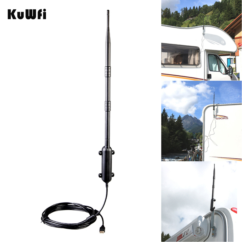 High Power Outdoor WiFi Antenne 150Mbps USB Draadloze Wifi Adapter 1KM Afstandsversterker Omni-directionele draadloze netwerkkaart