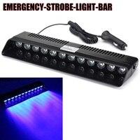 Neue 1 Satz 12 V Auto Lkw Dash Notröhrenblitz Flash Blue Light 12 LED Bar Led-warnblinkleuchte mit zubehör