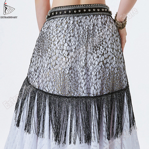 Image 2 - New Hip Scarf Tribal Style Accessories Women Belly Dance Belt Tassel Triangle Bellydance Scarf Hip Bead Hand Made Adjustable