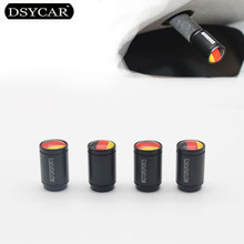 DSYCAR 4Pcs lot Universal Germany flag Car Moto Bike Tire Wheel Valve Cap Dust covers Car