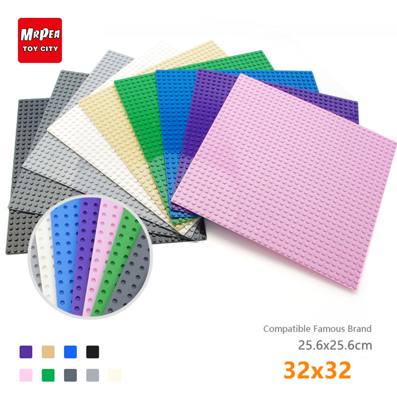 32*32 Dots Base Plate Building Blocks For Small Bricks Baseplate Board Compatible With Legoing Duplo Figures Toys For Childrens