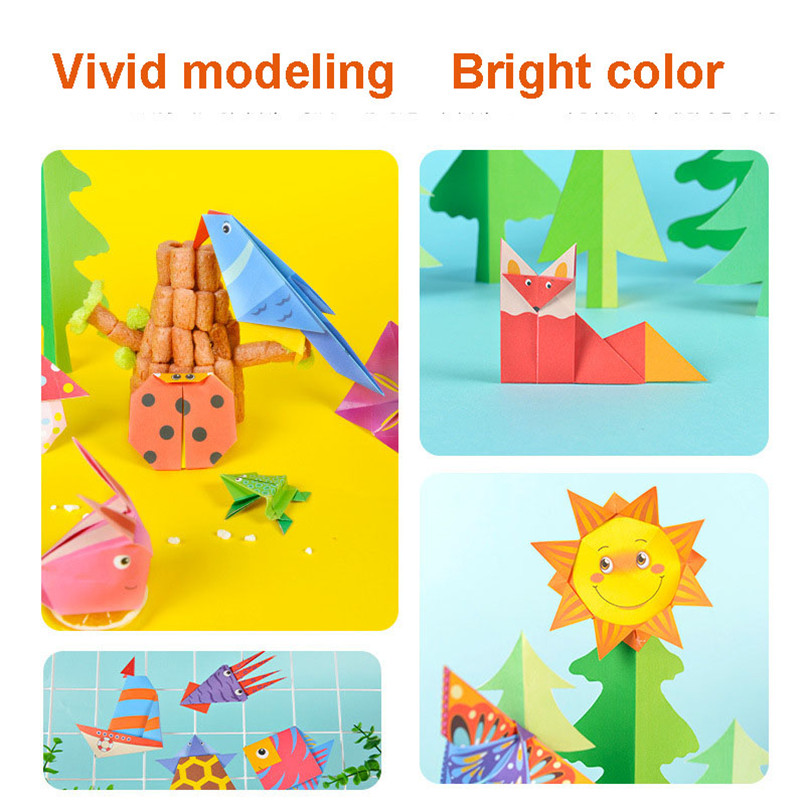 54 Pcs Cartoon Origami Book Paper Arts And Craft Girls Toys DIY Handmade 3D Puzzle Animal Crafts For Kids Educational Child Toy