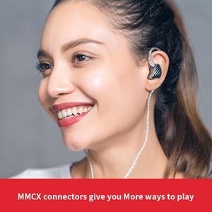 Image 4 - FiiO FH5 auriculares híbridos HIFI con carcasa de Metal, Cable desmontable, diseño MMCX, controlador cuádruple, 3,5mm, para iOS y ordenador Android PC