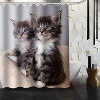 Best Nice Custom Cat Animal Pet Shower Curtain Bath Curtain Waterproof Fabric Bathroom MORE SIZE WJY&48