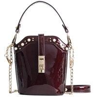 Candy Colors Women Bag Leather Handbags Female Bucket Tote Women Messenger Bag Shopping Clutch Handbag Ladies