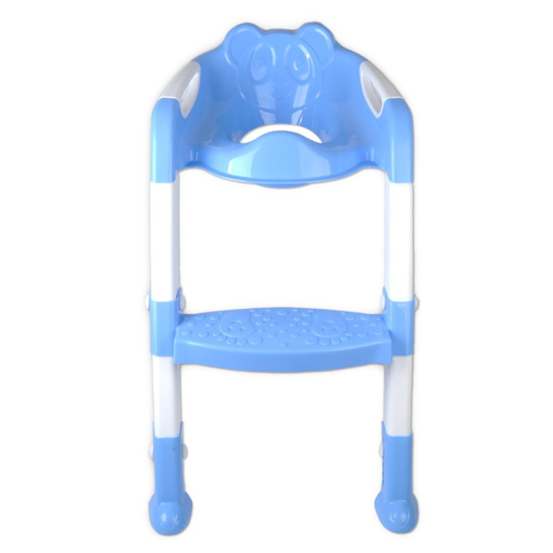 Kids Foldable Potty Trainer Chair Toilet Seat Safety Non-Slip Ladder Stool New