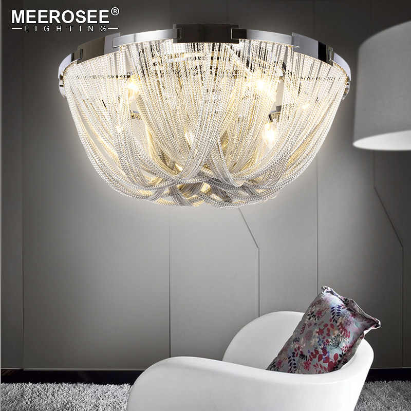 Французская ампир цепь люстра светильник лампа установленная заподлицо цепь свет для гостиной отель проект алюминиевая цепь лампа