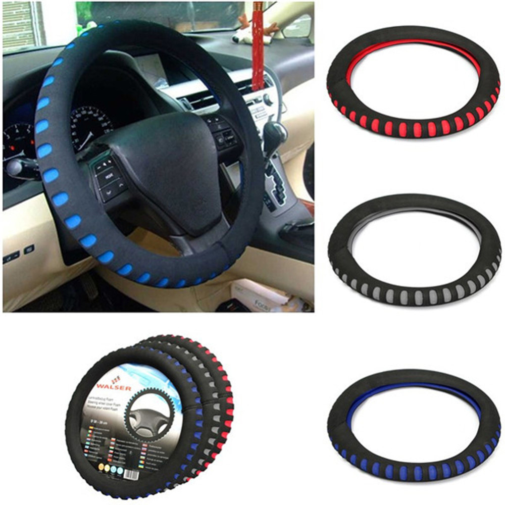 EVA Punching Universal Car Steering Wheel Cover Diameter 38cm Automotive Sup High Quality Car Styling Accessories 3 Colors 1