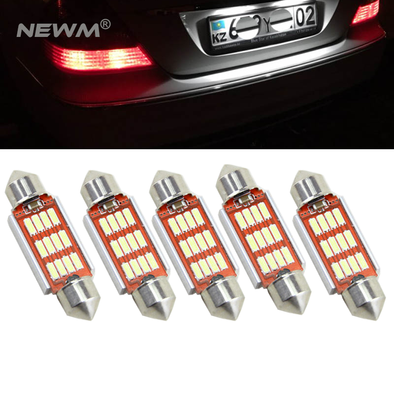 5pcs Canbus No Error 36MM C5W LED License Plate Light for Mercedes Benz W208 W209 W203 W169 W210 W211 W212 AMG CLK 10pcs error free led lamp interior light kit for mercedes for mercedes benz m class w163 ml320 ml350 ml430 ml500 ml55 amg 98 05