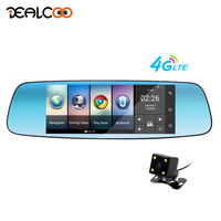Dealcoo 4G/3G Car DVR Mirror 7 Android 5.1 GPS Dash Cam Video Recorder Rear view mirror with DVR and Camera Registrar 16GB