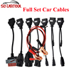 (10PCS/Lot) OBD2 Cables For TCS CDP Pro plus Cars Cables diagnostic Tool Interface Full Set 8pcs Car Cables by DHL Free Shipping