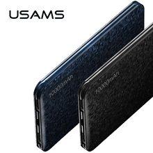 Banco de la energía para el xiaomi Millas, USAMS Mosaico de Ultra Delgado 10000 mAh Powerbank para el iphone 4 5 6 7 SÍ Teléfono Móvil de Samsung